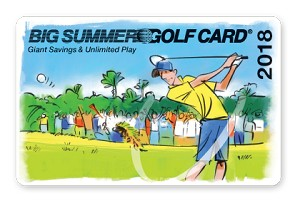 2018 Big Summer Golf Card Early Season Price